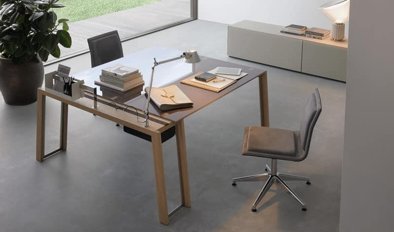 Tavoli tavoli ufficio design moderno idf for Scrivanie ufficio moderne