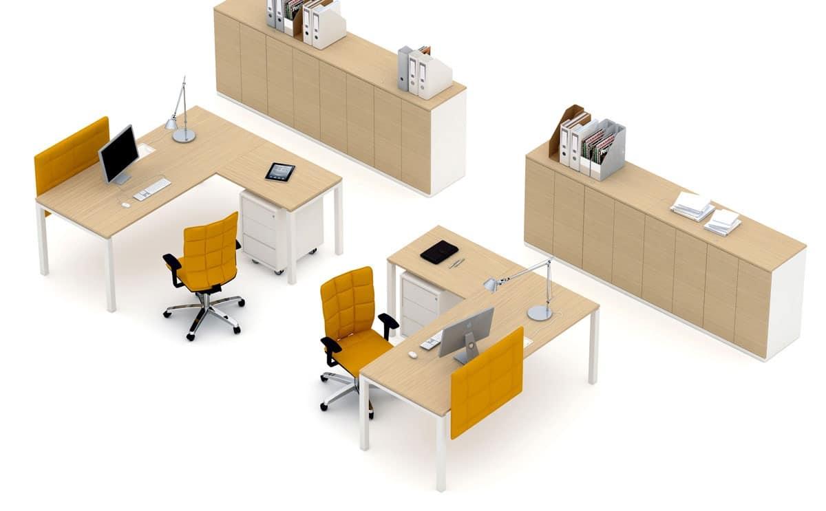 Scrivania Operativa Per Ufficio.Postazione Operativa Per Ufficio Personalizzabile Idfdesign
