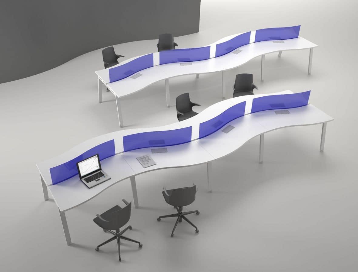 Tavolo modulare per postazioni operative idfdesign for Design ufficio srl