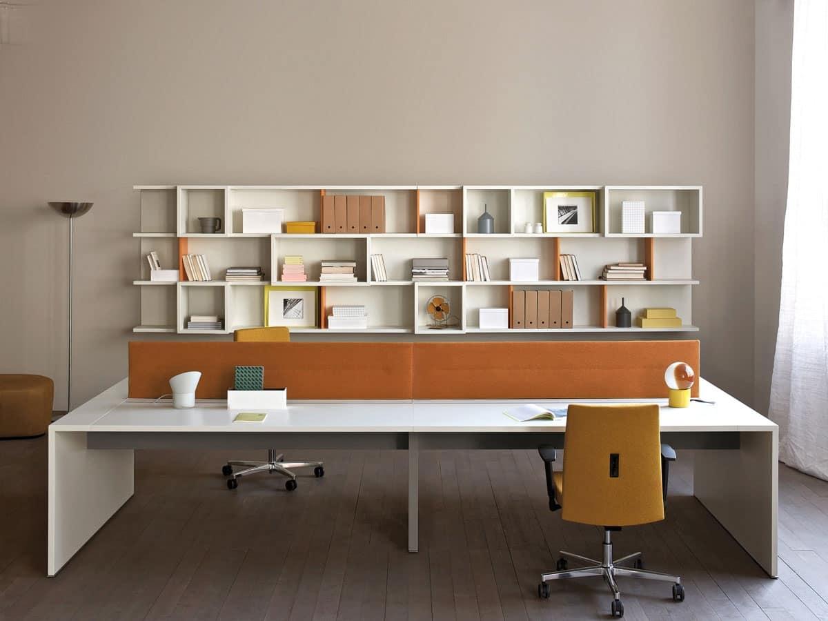 Scrivania multipostazione per ufficio tavoli da ufficio for Scrivanie operative ufficio