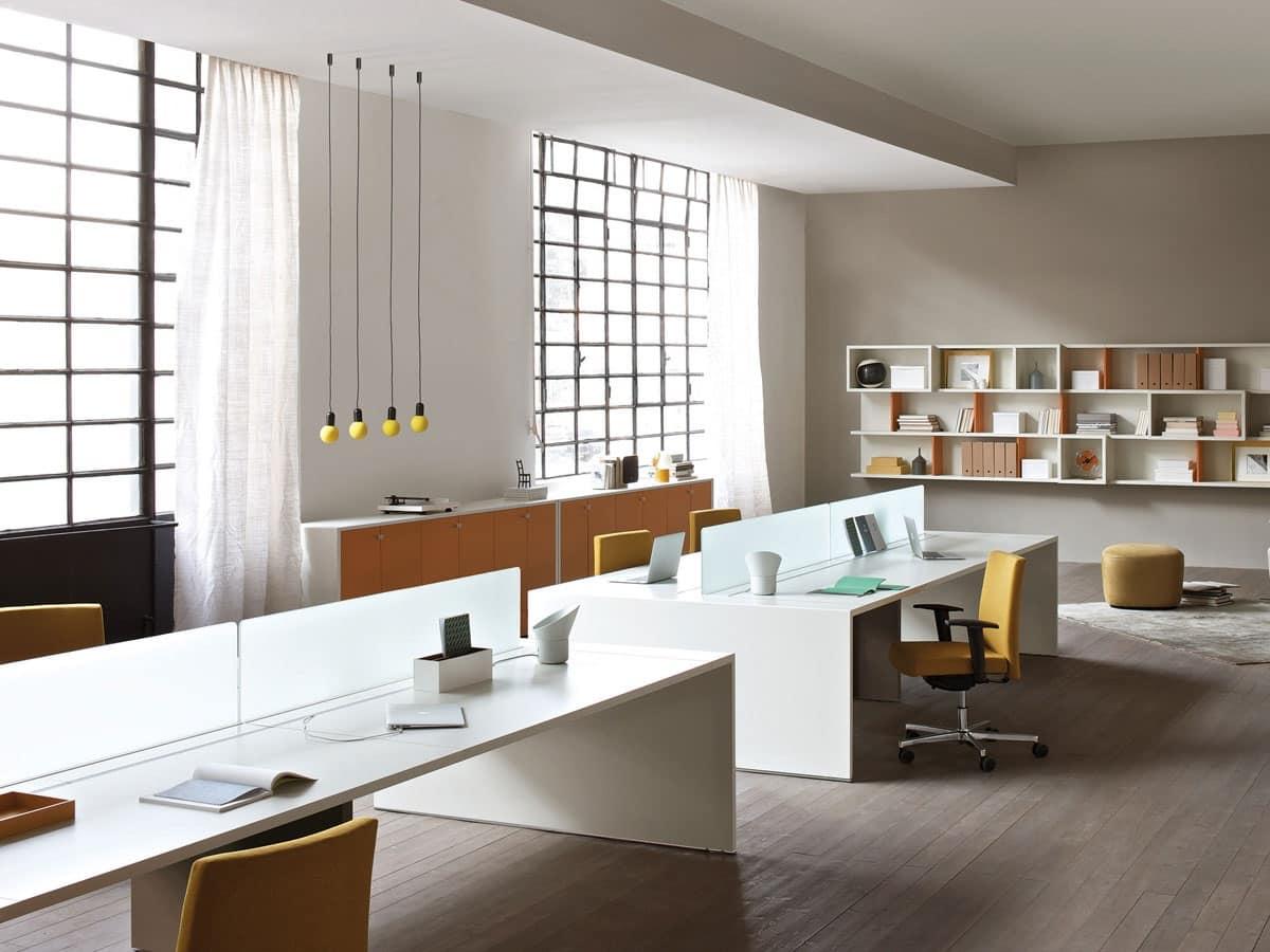 Bancone reception arredamento ingresso arredamento for Design ufficio scrivania