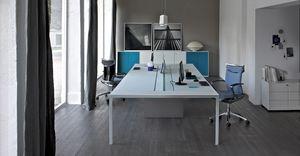 More scrivania operativa 6, Tavolo per ufficio operativo, 6 postazioni