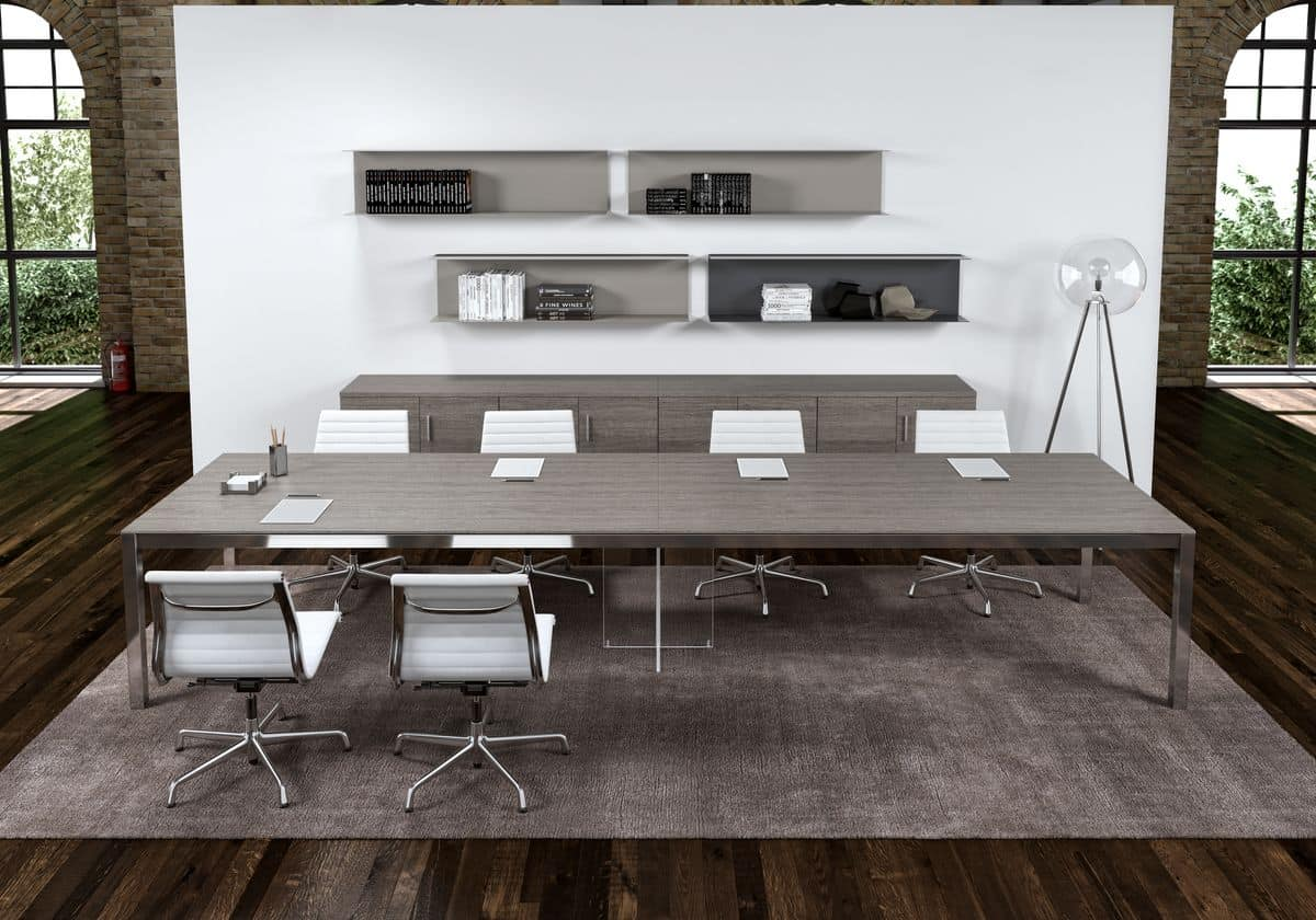 Home Ufficio Tavoli Tavoli Riunione Zefiro Comp.6 #352B22 1200 840 Ikea Tavoli Per Pranzo
