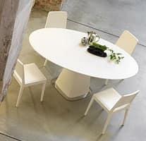 Tavolo da pranzo con piano tondo | IDFdesign