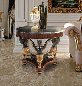 Art. 188, Tavolo tondo in mogano e marmo nero