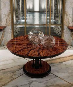 Art. 3006, Tavolo tondo con piano in palissandro