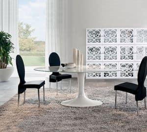 Immagine di IMPERIAL, tavoli lineari con piano in vetro