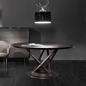 Mandarin tavolo, Tavolo tondo, con scultorea base d�appoggio