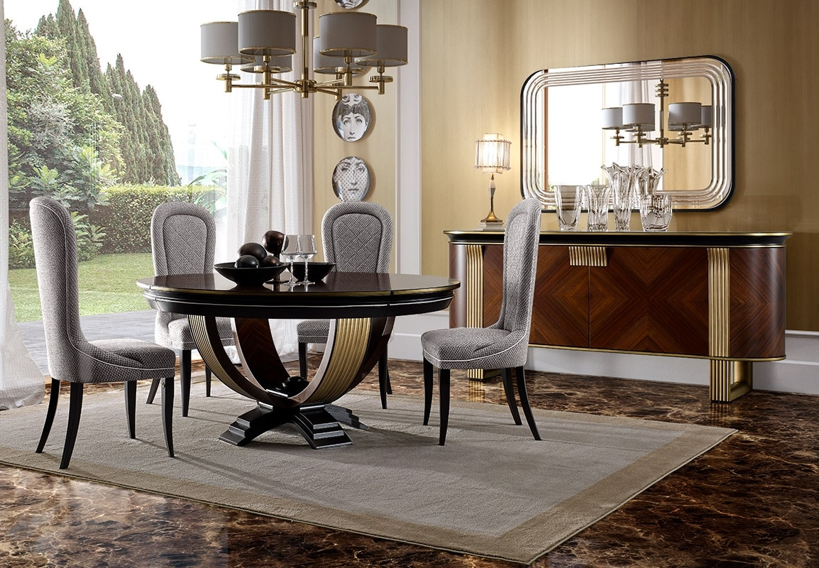 Tavolo tondo per eleganti sale da pranzo   IDFdesign