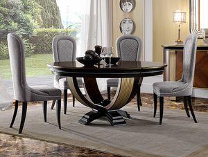 Oliver Art. OL05/160, Tavolo tondo per eleganti sale da pranzo