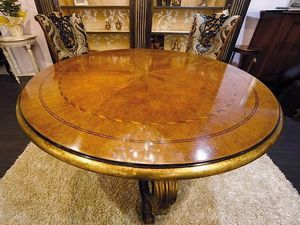 Royal tavolo, Tavolo tondo per sale da pranzo classiche