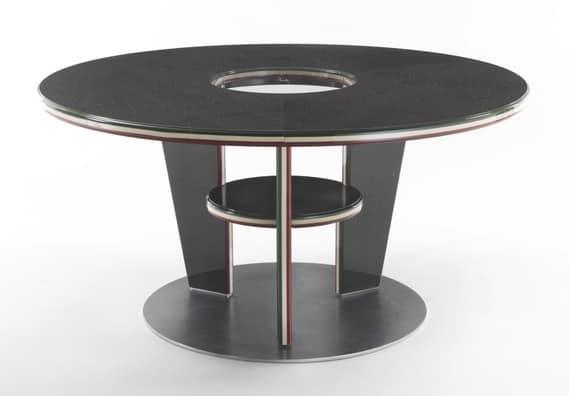 Tavolo rotondo in stile moderno, in laminato | IDFdesign