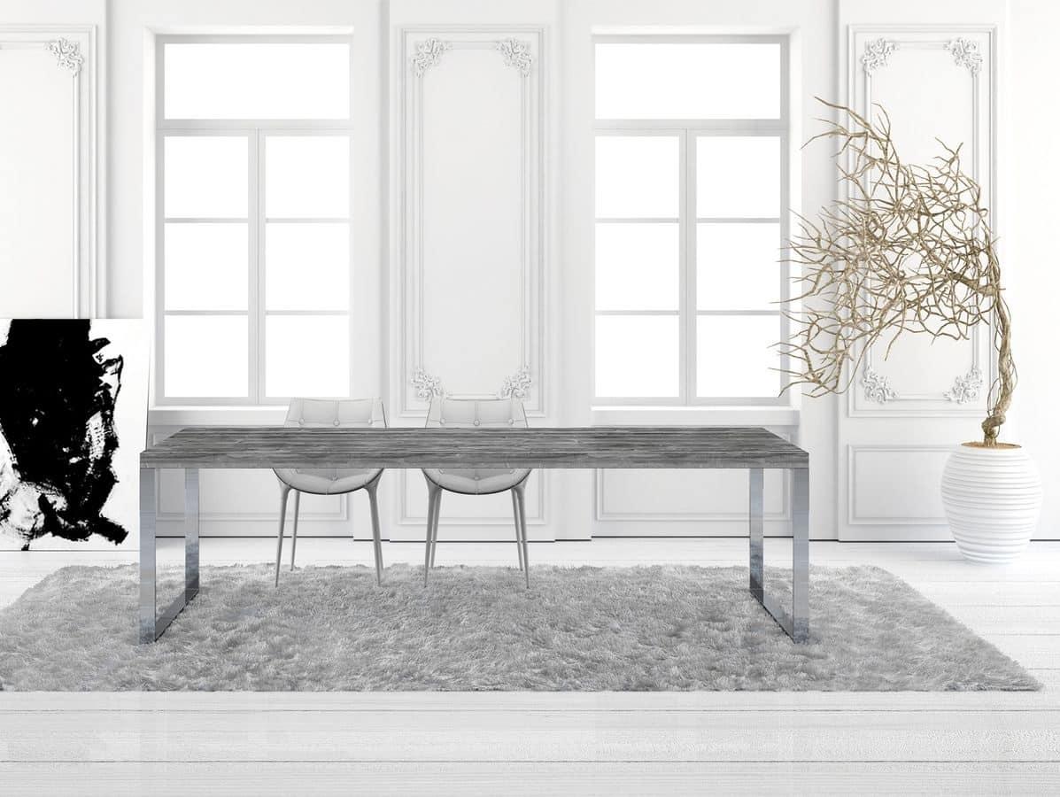 Tavolo rettangolare in abete per soggiorno idfdesign for Tavoli per soggiorno