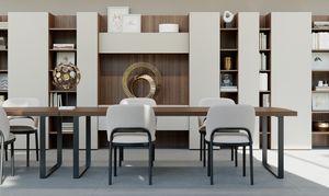 GEORGE rettangolare, Tavolo rettangolare dal design pulito, per Ufficio