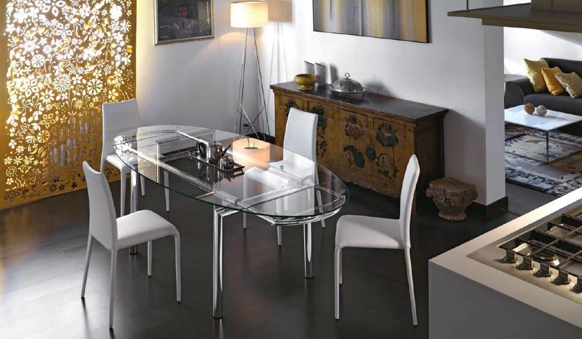 Tavolo allungabile soggiorni idfdesign - Tavolo salone moderno ...
