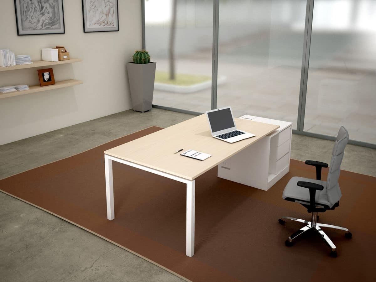Scrivanie metallo legno ideali per uffici direzionali - Scrivanie legno design ...