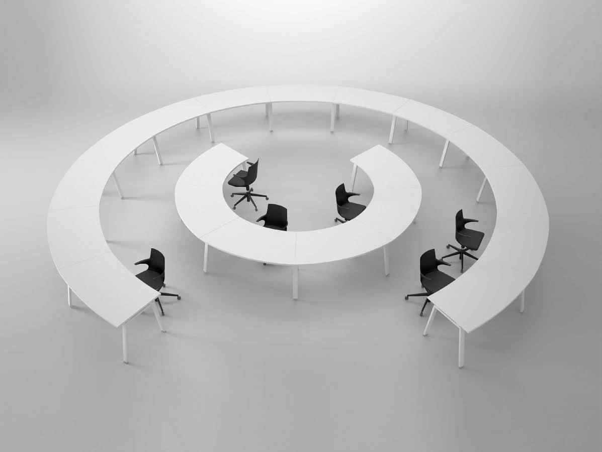 Tavolo Di Ufficio : Composizione modulare di tavoli per uffici operativi idfdesign