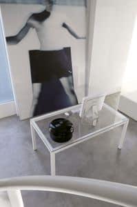dl50 stoccolma, Tavolo operativo in acciaio verniciato, piano in cristallo