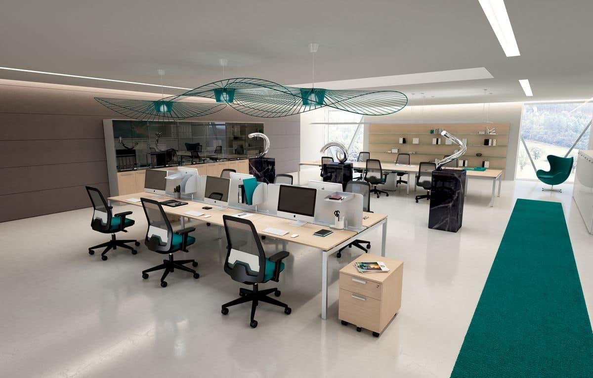 Sistemi modulari di arredo per ufficio moderno idfdesign for Uffici operativi