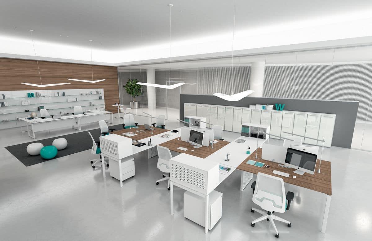 Sistemi modulari di arredo per ufficio moderno idfdesign for Complementi di arredo per ufficio