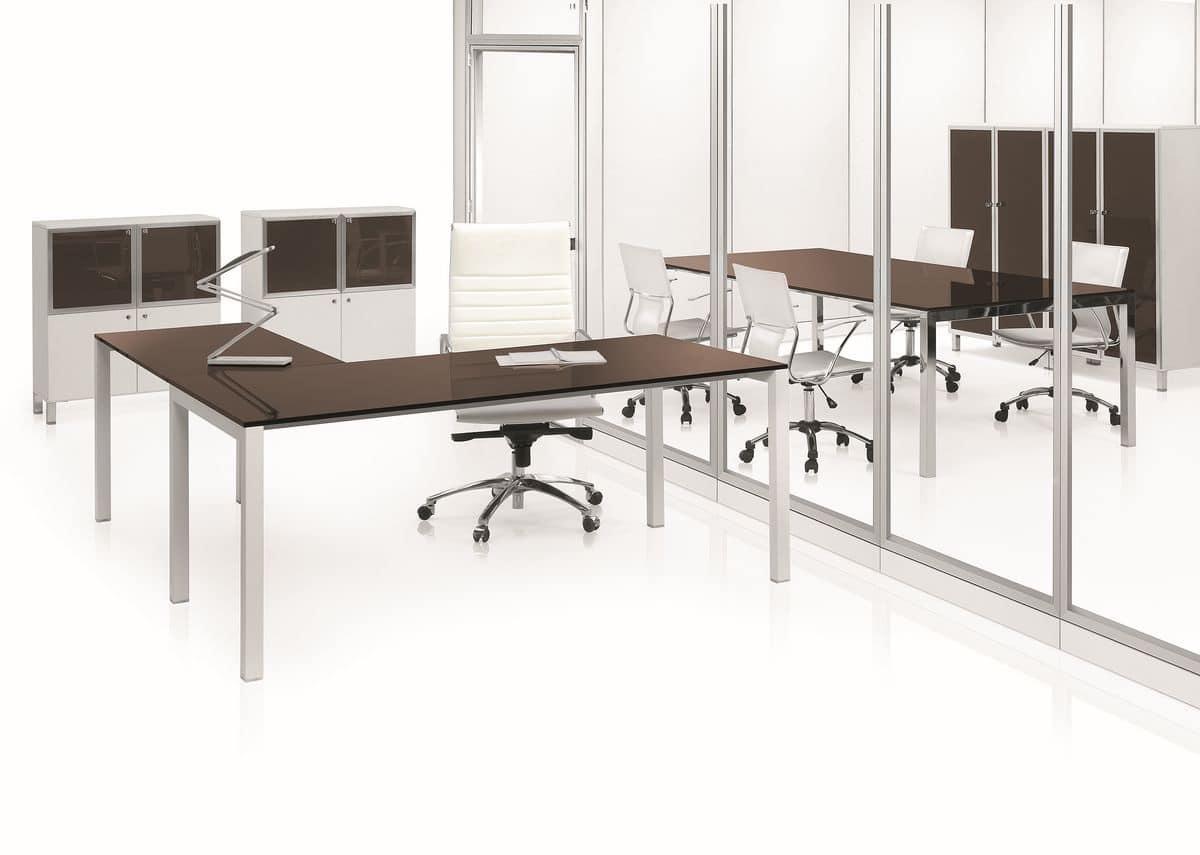 Sistema di tavoli modulari per uffici stile moderno - Tavoli per ufficio ...