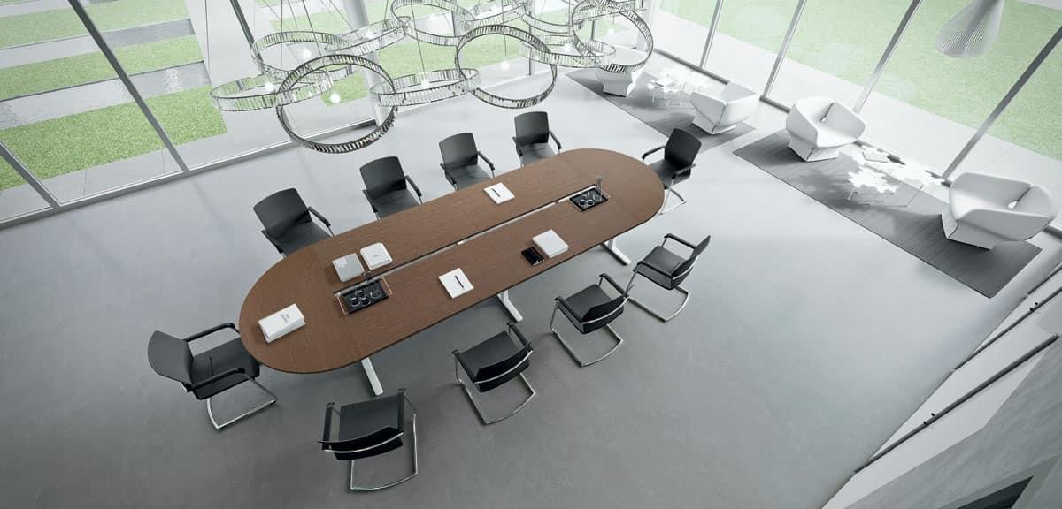 tavolo riunioni tavolo componibile ampio tavolo ovale