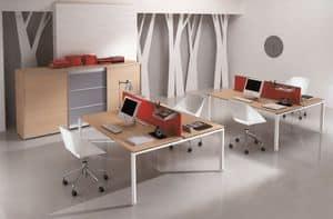 Pegaso comp.4, Arredo moderno con pareti divisorie ideale per call center
