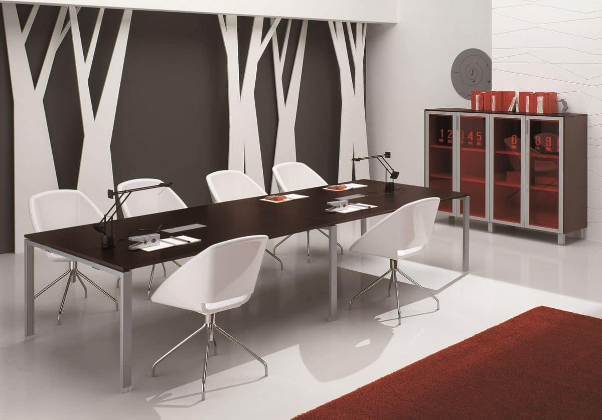 Tavolo per sala riunione ed incontri idfdesign for Arredo sala riunioni