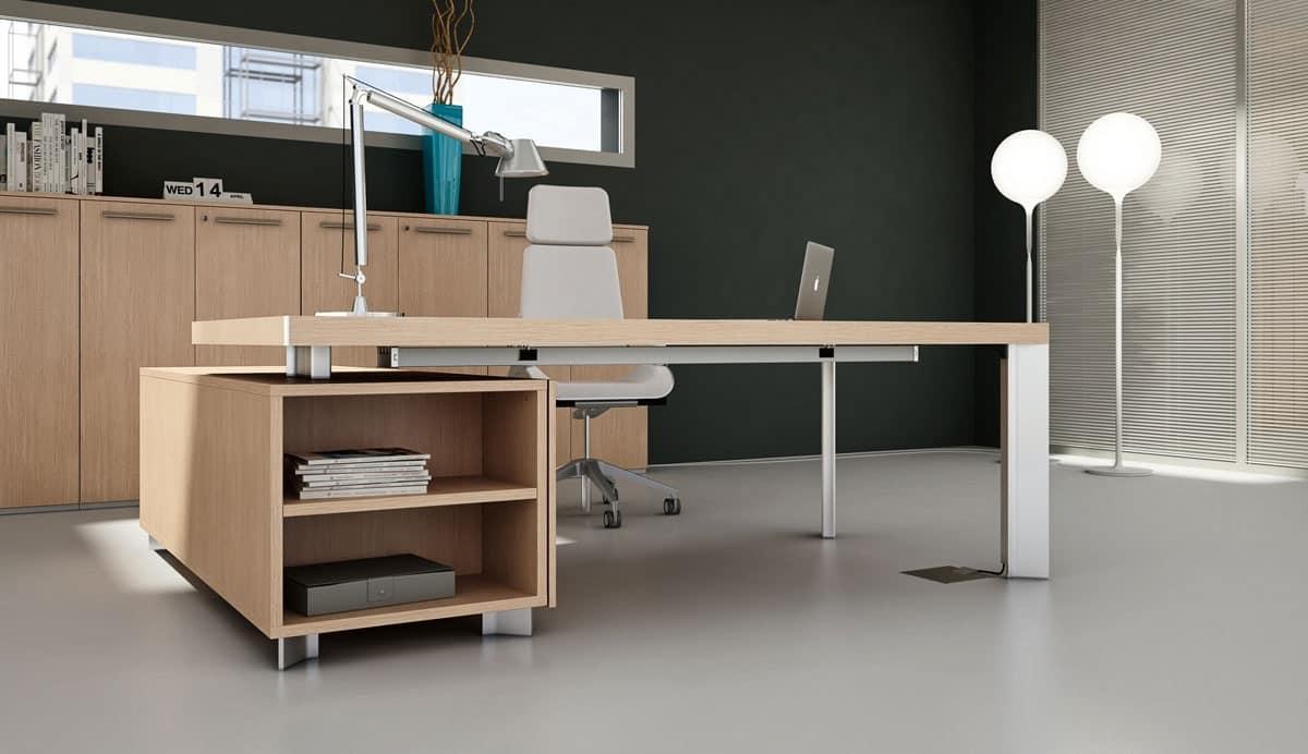 Tavolo design ufficio ufficio idfdesign for Consolle scrivania moderna