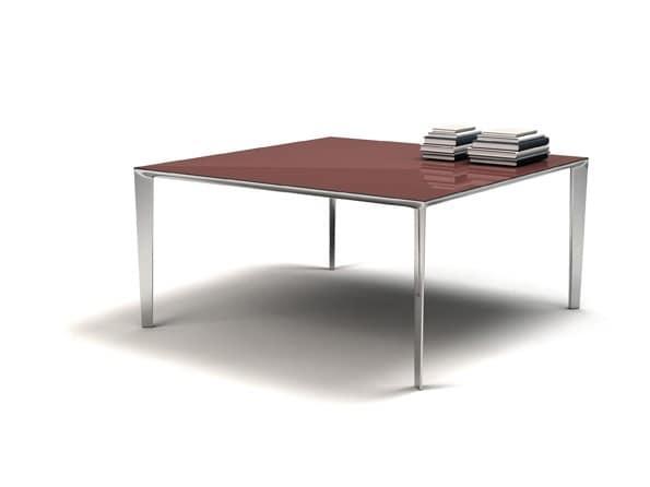 Tavolo in alluminio alto design per sale da pranzo for Tavolo da pranzo molteni