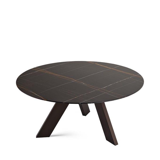 Tavolo ovale con piano in cristallo con 3 gambe idfdesign - Tavolo in cristallo ovale ...