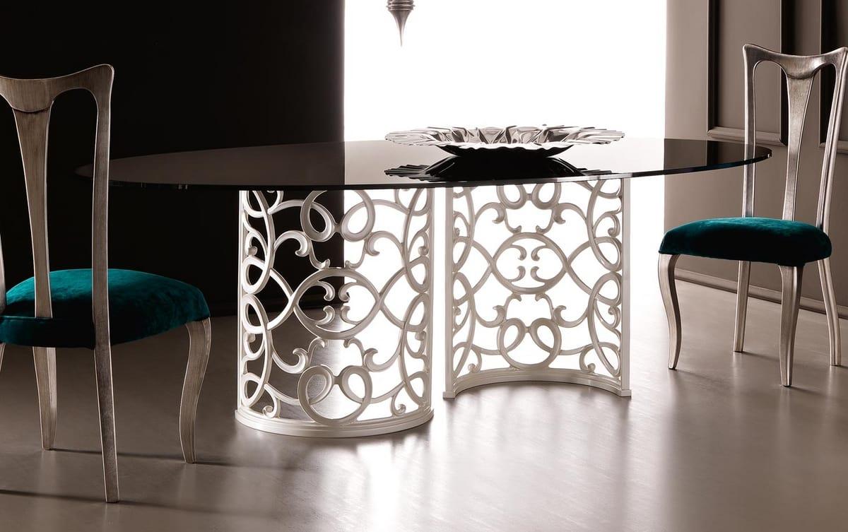 Flora Art. 223-RS1M, Tavolo con elegante base in alluminio