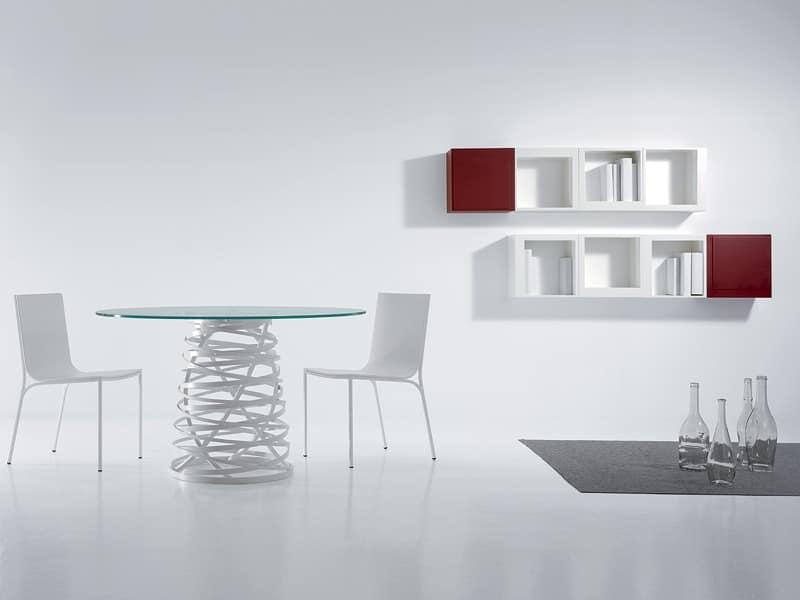 Tavoli tavoli design moderno metallo vetro idf for Tavoli moderni vetro design