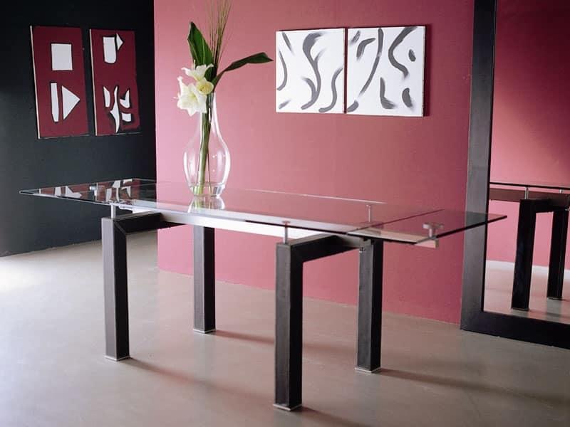 S12 isidoro tavoli allungabili in vetro sale da pranzo - Tavoli da pranzo in vetro ...
