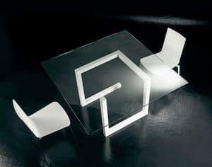 Immagine di Teorico, tavoli metallo minimali