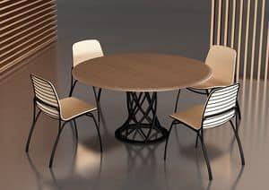 Air Floor, Tavolo con base in metallo, ideale per bar eleganti