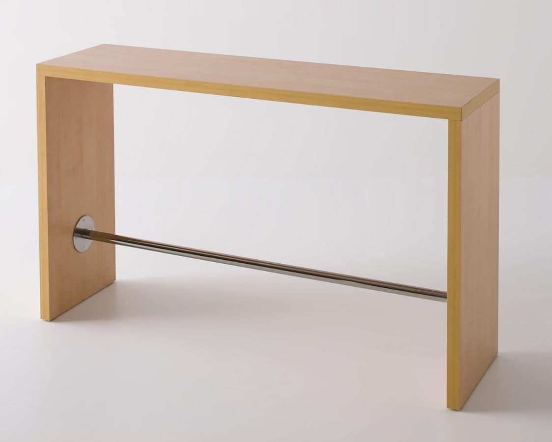 Tavolo alto in laminato con poggiapiedi design idfdesign