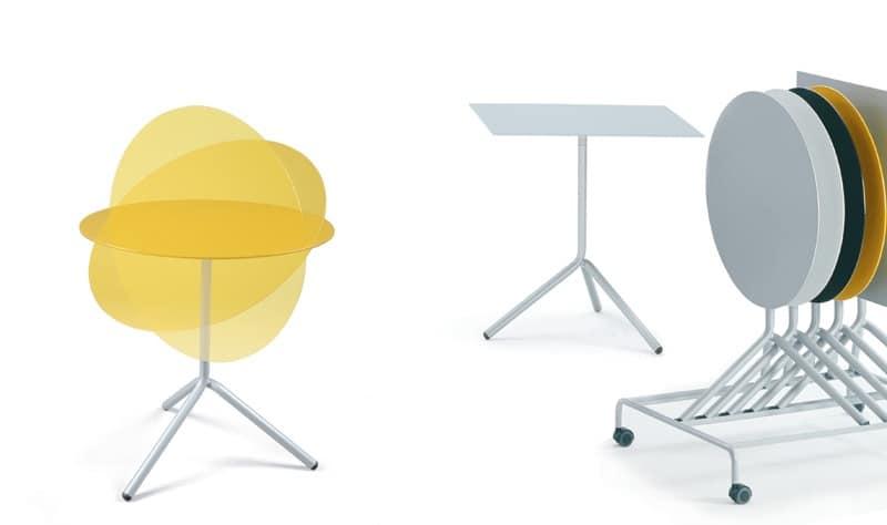 Tavolini da esterno con piano pieghevole in alluminio for Tavolini da esterno