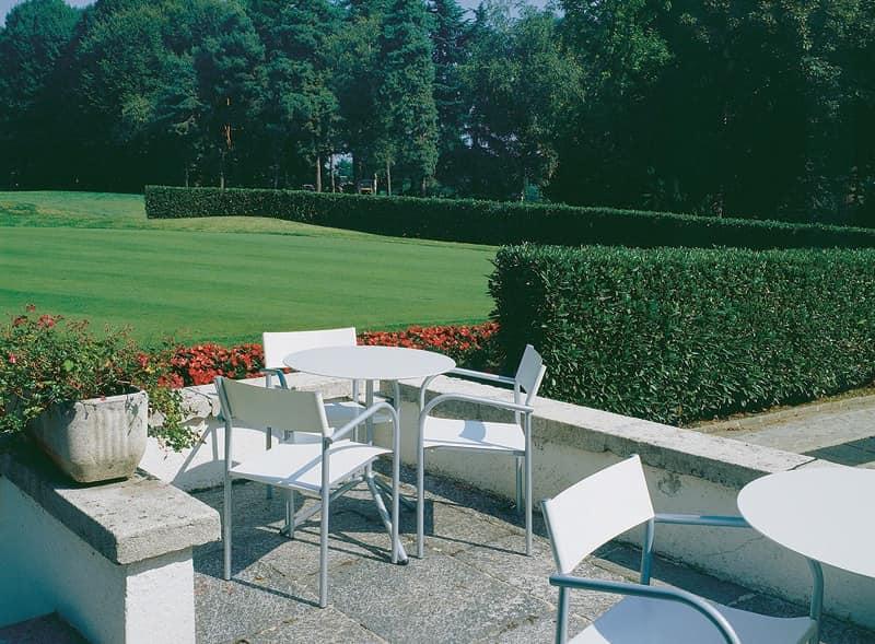 tavolini da esterno con piano pieghevole in alluminio