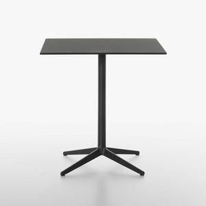 Mister-x mod. 9510-51 / 9510-01 / 9510-71 / 9511-51 / 9511-01 / 9511-71, Tavolino design con piano in laminato, base in ghisa