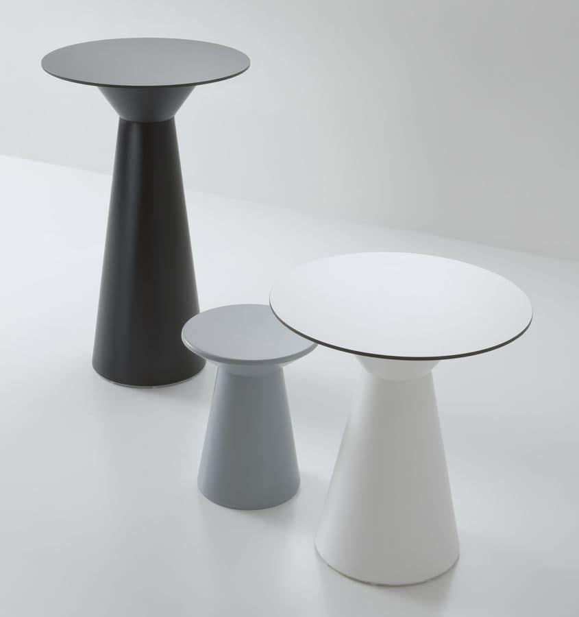 Roller tavolo 110, Tavolo alto per bar, in polimero, per esterni