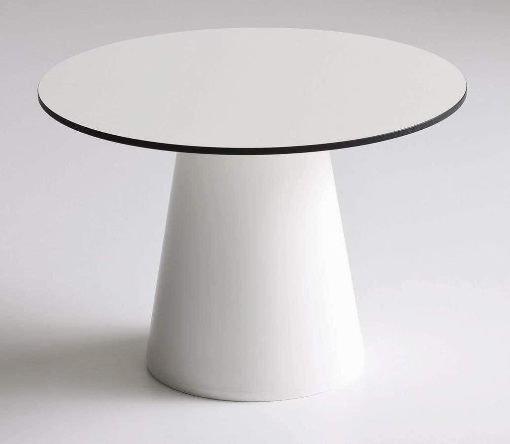 Tavolino basso da bar in plastica per esterni idfdesign - Tavolo plastica esterno ...