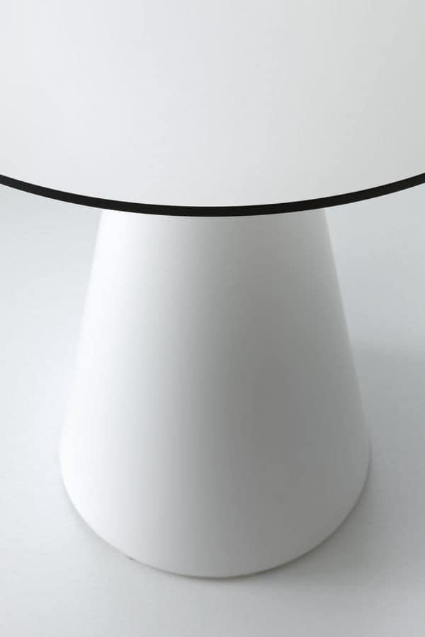 Roller tavolo 40, Tavolino basso da bar, in plastica, per esterni