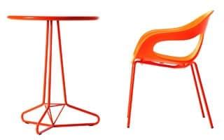 Tria Uno d60 d70, Solido e stabile tavolo in metallo, adatto anche per l'uso all'aperto