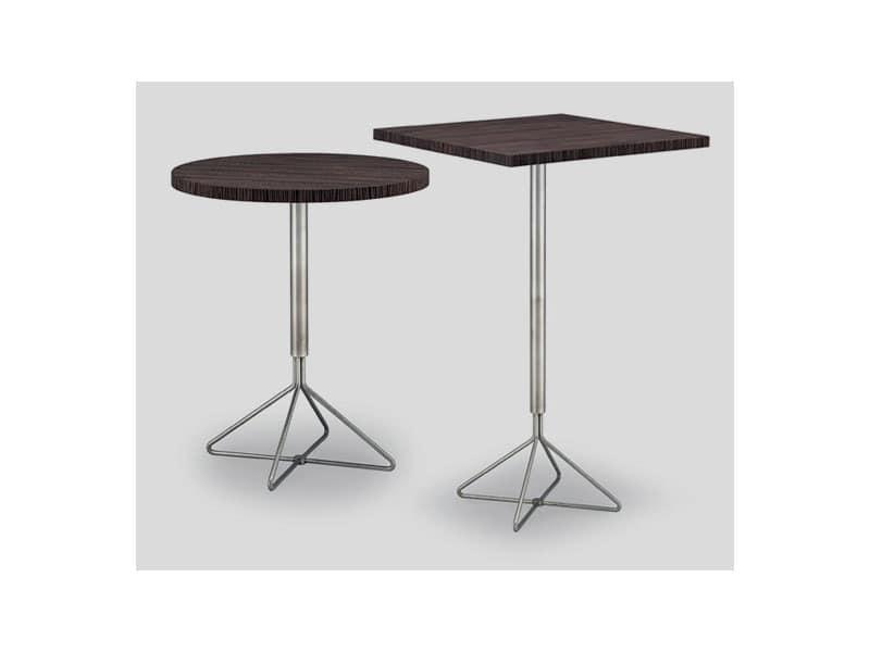 Tavolino alto per bar e pub piedistallo in inox idfdesign for Tavoli da bar ikea