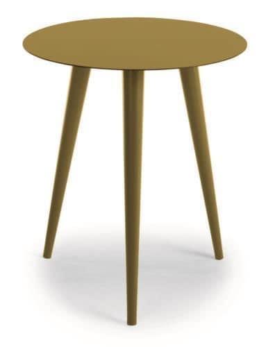 Tavolo rotondo in metallo per uso esterno idfdesign for Tavolo rotondo esterno