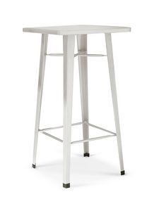 3069, Tavolino alto da bar, in lamiera, con poggiapiedi