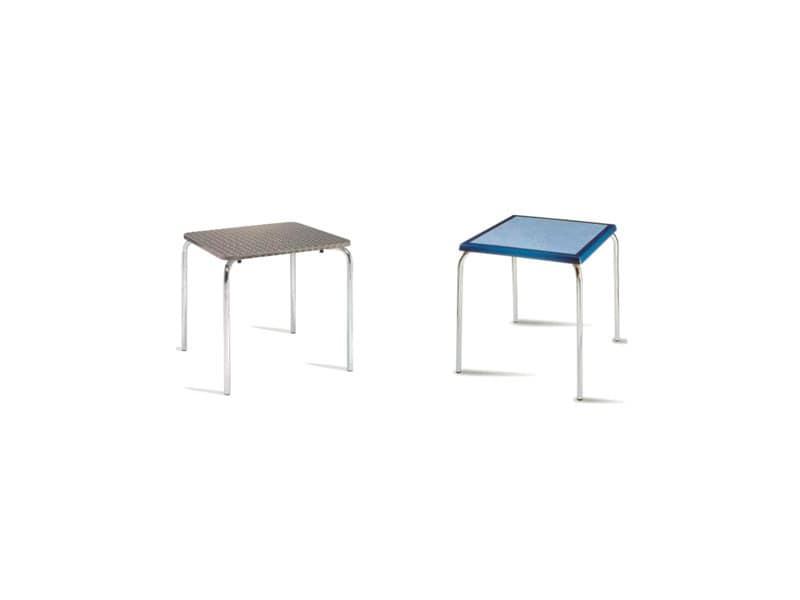 FT 028, Tavolino moderno impilabile, per Bar e ristoranti