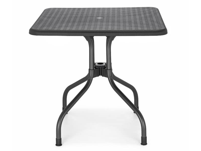 Tavoli Di Plastica Quadrati.Tavolo Da Giardino Con Piano Ribaltabile Idfdesign
