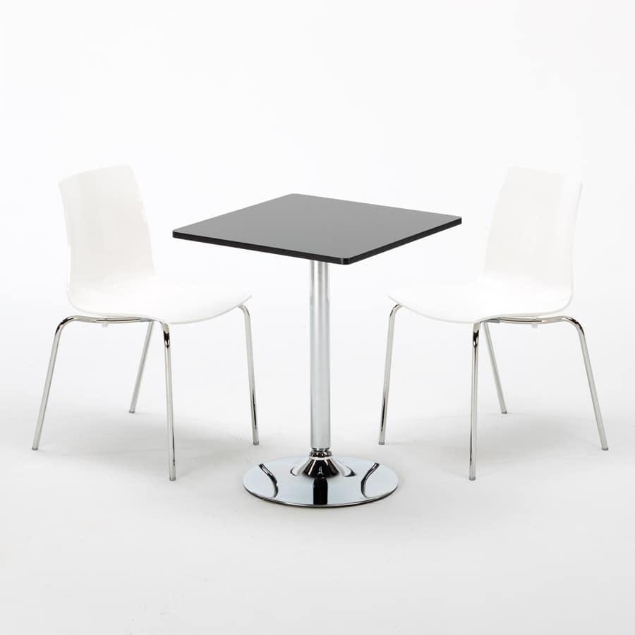 Tavolo Quadrato Con Sedie.Tavolino Quadrato Per Bar E Ristoranti Con Piano In Laminato